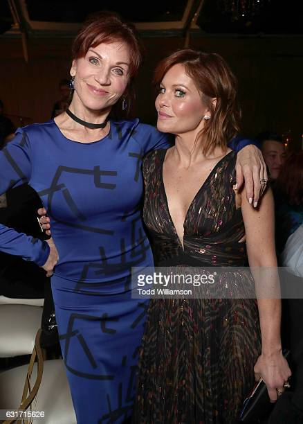 Marilu Henner and Candace Cameron Bure attend the Hallmark Channel And Hallmark Movies And Mysteries Winter 2017 TCA Press Tour at The Tournament...