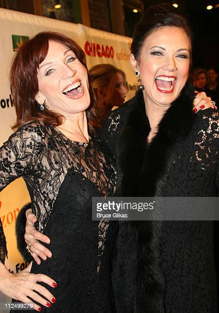 Marilu Henner and Lynda Carter during Chicago 10th Anniversary on Broadway at The Ambassador Theater in New York NY United States