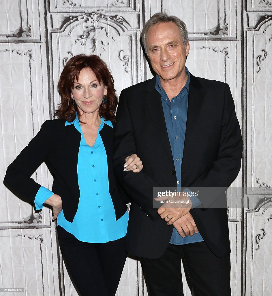 <a gi-track='captionPersonalityLinkClicked' href=/galleries/search?phrase=Marilu+Henner&family=editorial&specificpeople=213140 ng-click='$event.stopPropagation()'>Marilu Henner</a> and Michael Brown attend AOL Build Speaker Series to discuss 'Changing Normal: How I Helped My Husband Beat Cancer' at AOL Studios In New York on April 29, 2016 in New York City.