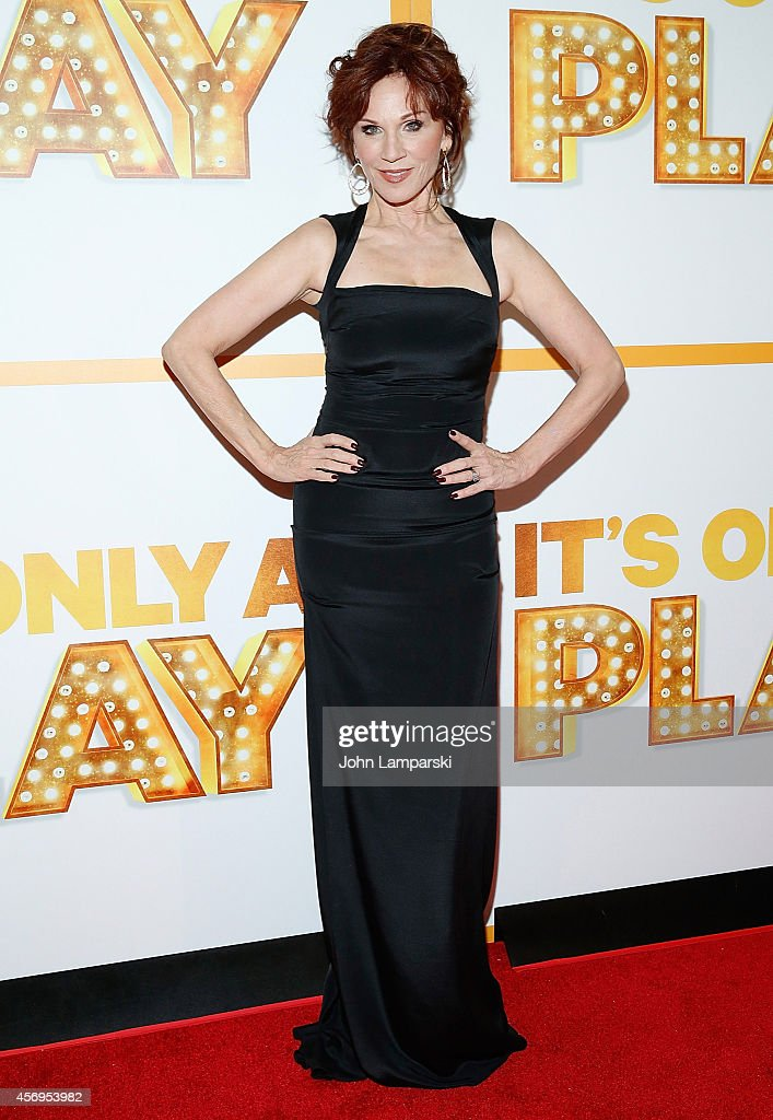 Marilu Henner attends 'It's Only A Play' Broadway Opening Night Arrivals And Curtain Call at Gerald Schoenfeld Theatre on October 9 2014 in New York...