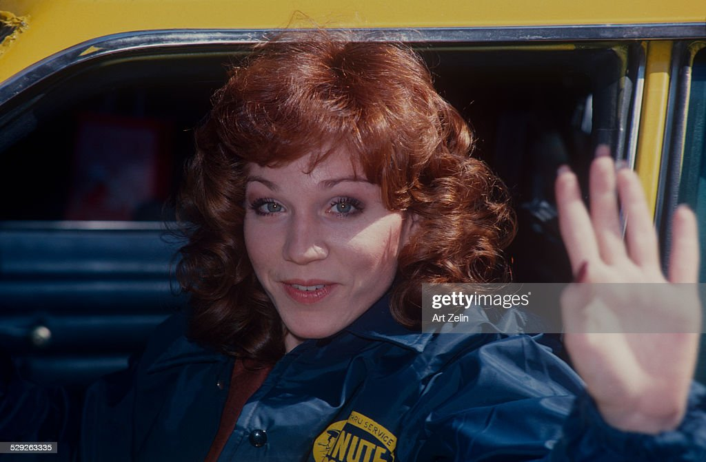 Marilu Henner closeup waving for the show Taxi circa 1970 New York