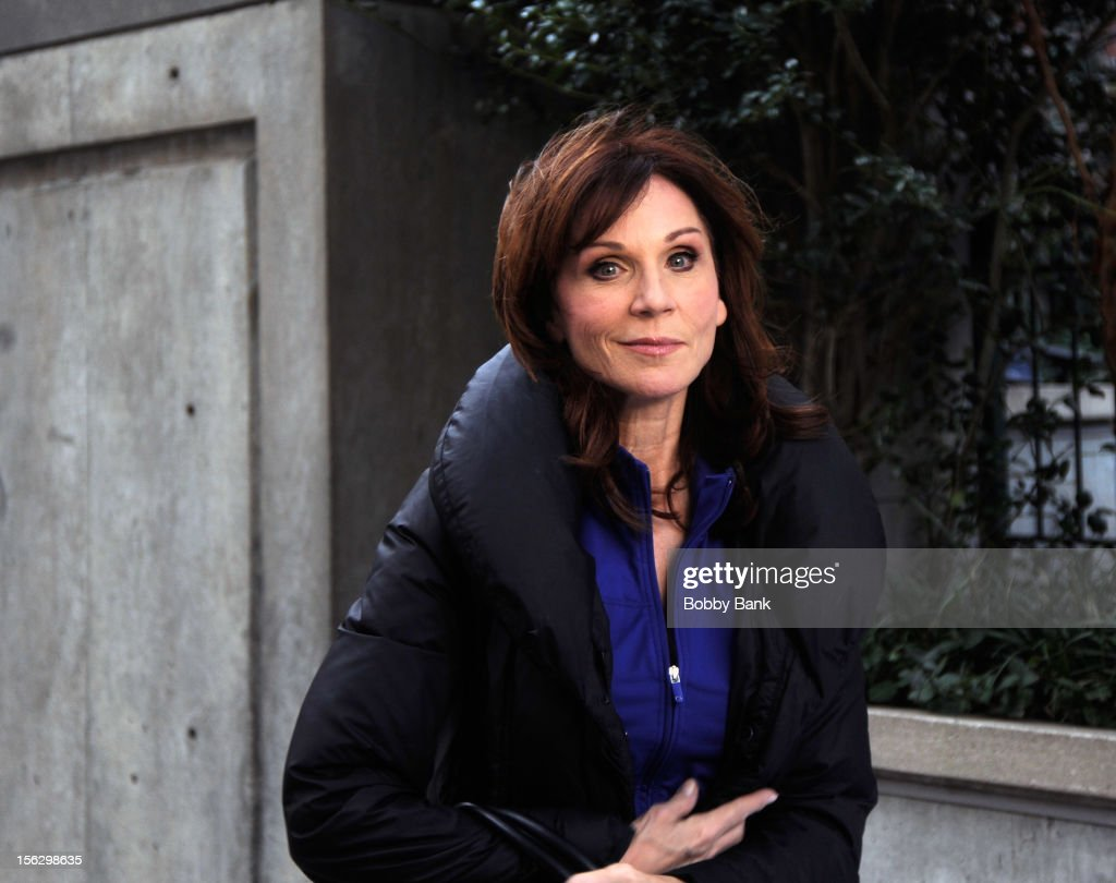 Marilu Henner filming on location for 'Celebrity Apprentice All Stars' on November 12, 2012 in New York City.