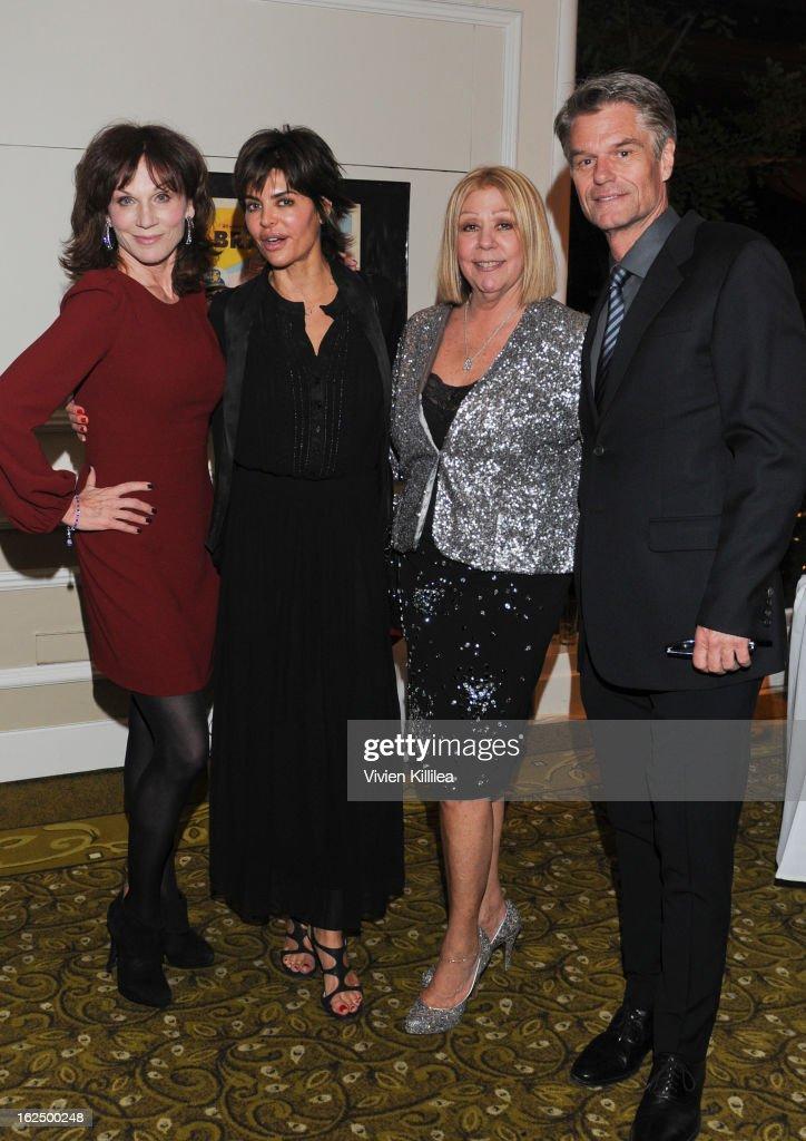 Marilu Henner, Lisa Rinna, Nancee Borgnine and Harry Hamlin attend The Borgnine Movie Star Gala at Sportsmen's Lodge Event Center on February 23, 2013 in Studio City, California.