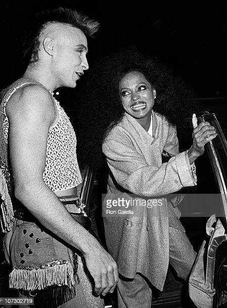 Marilyn AKA Peter Robinson and Diana Ross during Boy George Sighting at Elaine's in New York City Febuary 22 1985 at Elaine's Restaurant in New York...
