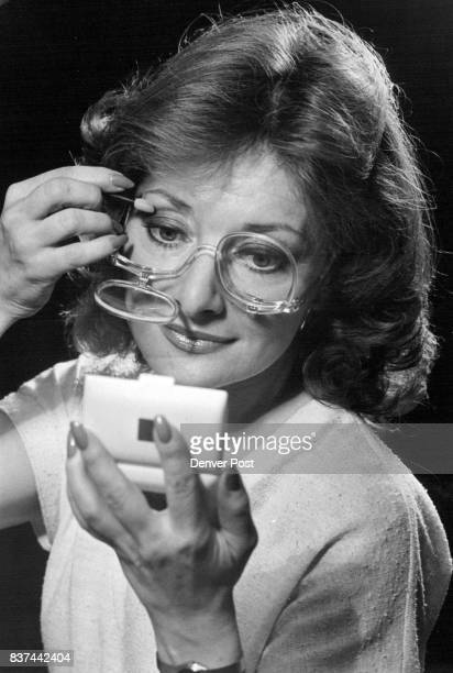 Marilyn Bernard And 'Beautiful Eyes' Newstyle gives glasses users 'sight' while applying makeup Credit Denver Post