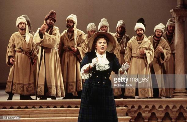 Marilyn Horne sings during a Royal Opera production of Rossini's L'Italiana in Algeri September 1993
