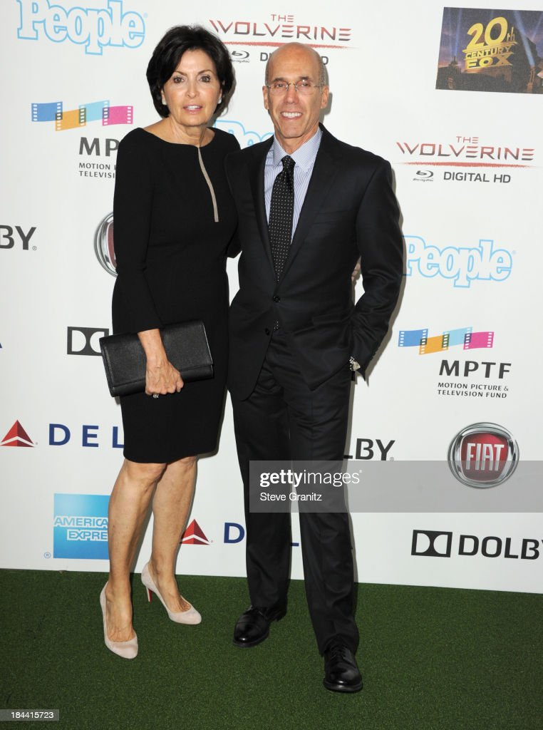 Marilyn Katzenberg and Jeffrey Katzenberg One Night Only Benefiting The Motion Picture & Television Fund at Dolby Theatre on October 12, 2013 in Hollywood, California.