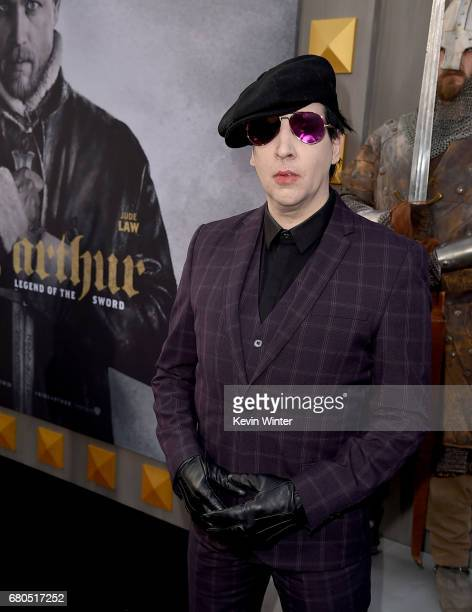 Marilyn Manson attends the premiere of Warner Bros Pictures' 'King Arthur Legend Of The Sword' at TCL Chinese Theatre on May 8 2017 in Hollywood...