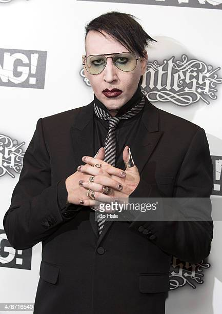 Marilyn Manson attends the Relentless Energy Drink Kerrang Awards at the Troxy on June 11 2015 in London England