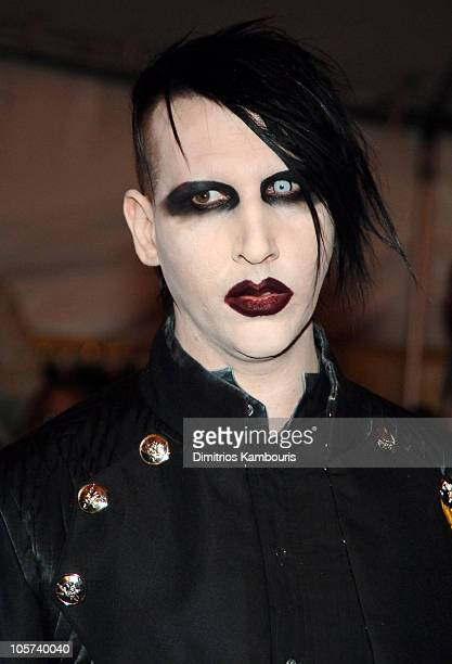 Marilyn Manson during 'Chanel' Costume Institute Gala at The Metropolitan Museum of Art Arrivals at The Metropolitan Museum of Art in New York City...
