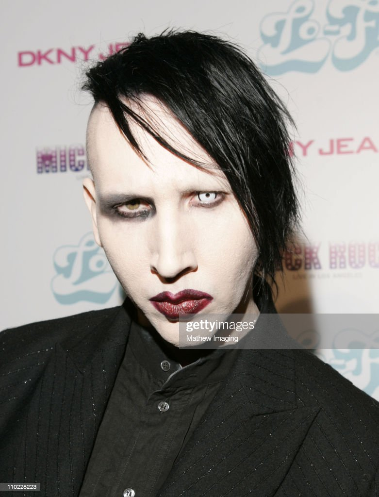 Marilyn Manson during DKNY Jeans and Lo-Fi Gallery Present 'Mick Rock Live in LA' Exhibit at Lo-Fi Gallery in Hollywood, California, United States.
