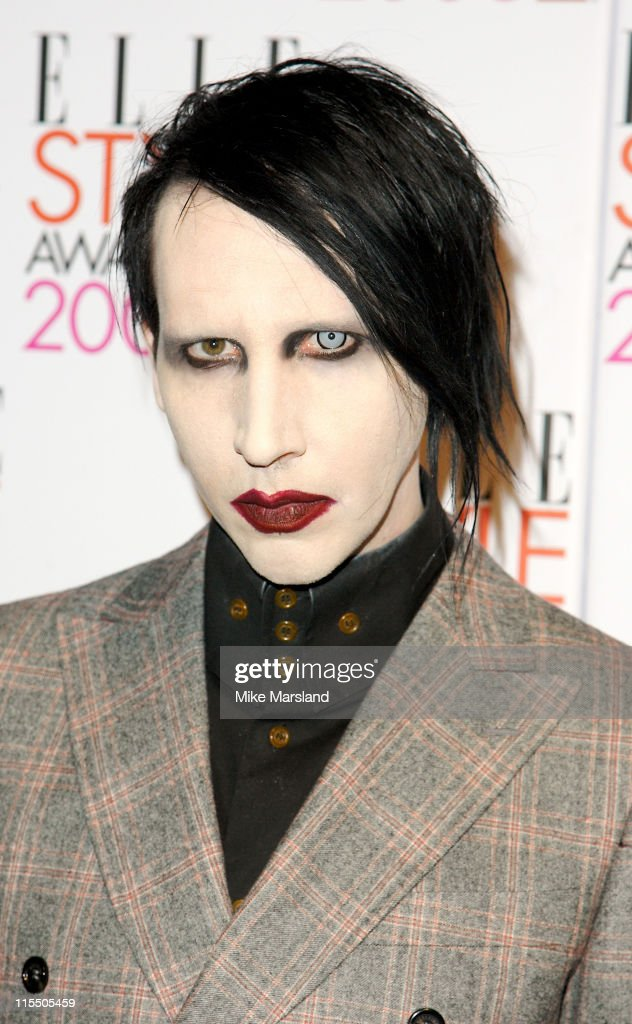 Marilyn Manson during Elle Style Awards 2006 - Inside Arrivals at Old Truman Brewery in London, Great Britain.