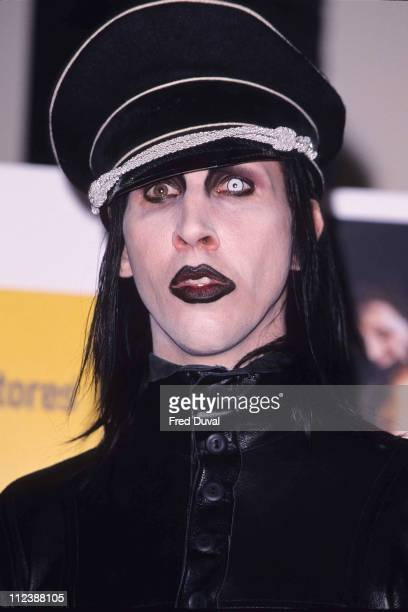 Marilyn Manson during Marilyn Manson Instore appearance at Virgin in London United Kingdom