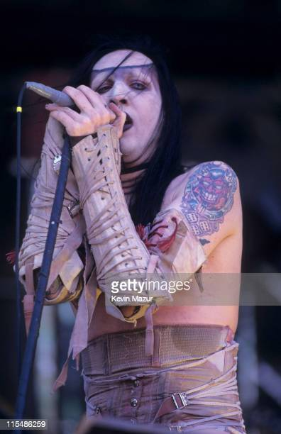 Marilyn Manson during Ozzfest at Giants Stadium June 15 1997 at Giants Stadium in New York New York United States