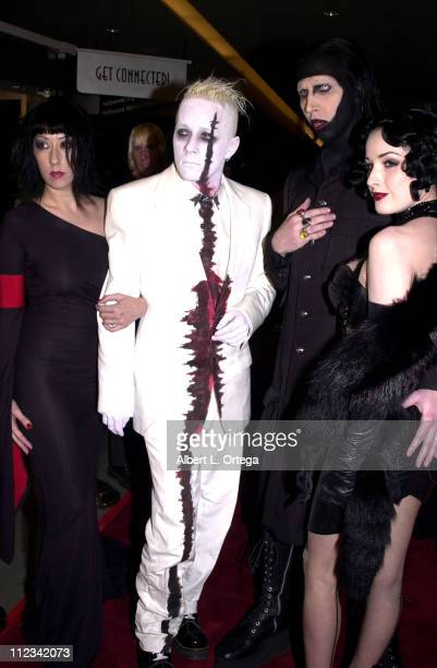 Marilyn Manson during 'Resident Evil' Premiere at The Mann Chinette Theater in Los Angeles California United States