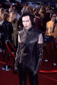 Marilyn Manson makes his way June 5 1999 to the MTV movie awards ceremony