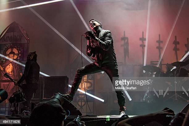 Marilyn Manson performs at 2015 Monster Energy Aftershock Festival at Gibson Ranch County Park on October 24 2015 in Sacramento California