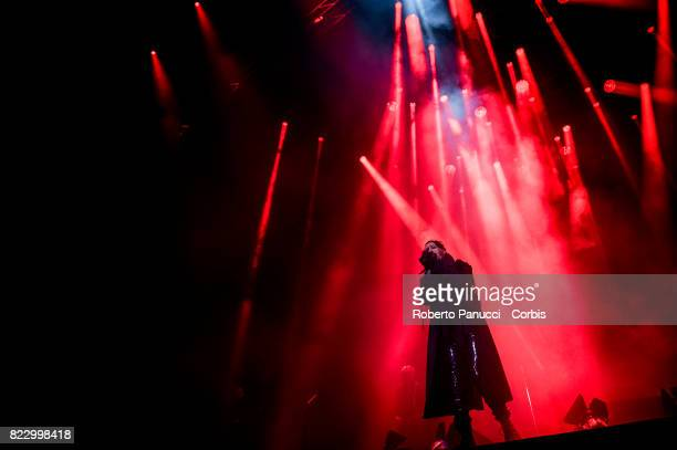Marilyn Manson performs in concert on July 25 2017 in Rome Italy