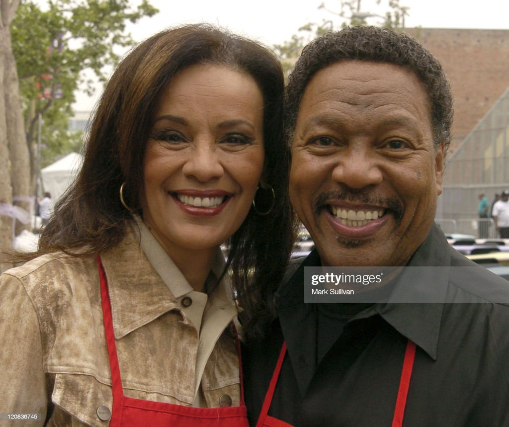 Marilyn McCoo and Billy Davis Jr. during Los Angeles Mission 2004 Easter Celebration at Downtown Los Angeles in Los Angeles, California, United States.
