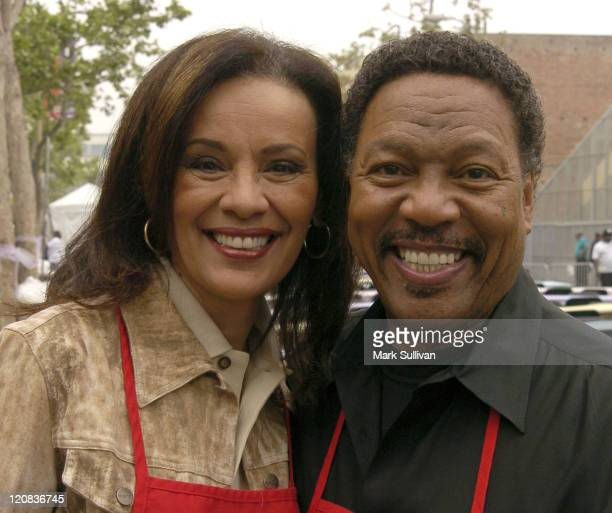 Marilyn McCoo and Billy Davis Jr during Los Angeles Mission 2004 Easter Celebration at Downtown Los Angeles in Los Angeles California United States