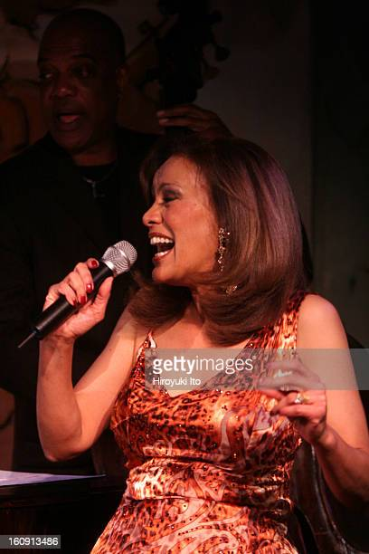 Marilyn McCoowith the bassist Kevin O'Neal performing at Cafe Carlyle on Tuesday night May 13 2008