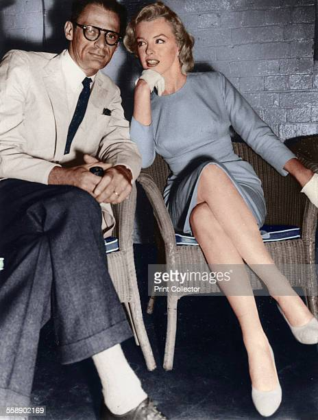 Marilyn Monroe and Arthur Miller just arrived in London c19561957 American actress Marilyn Monroe met playwright Arthur Miller in 1951 They married...