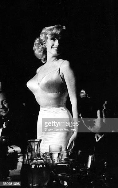 Marilyn Monroe in 1957 at the premiere for 'The Prince and the Showgirl' at Radio City Music Hall in New York New York