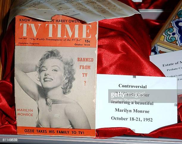 Marilyn Monroe memorabilia at The Hollywood Museums 'Marilyn Monroe The Ultimate Hollywood Icon' at The Hollywood Museum on August 6 2004 in...