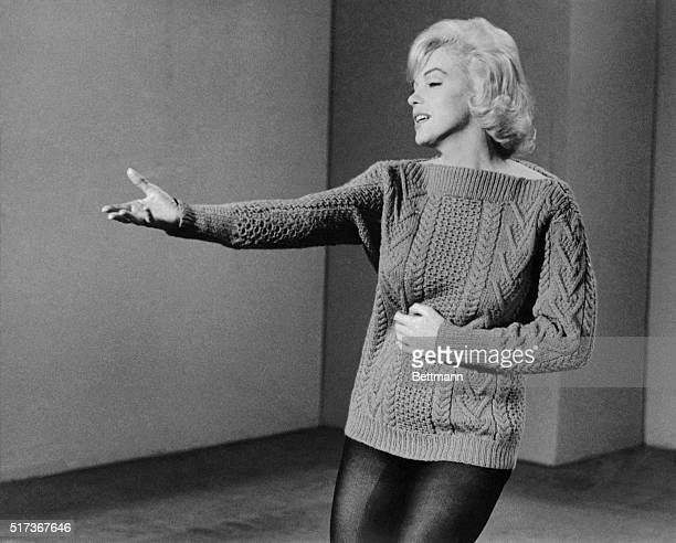 Marilyn Monroe rehearses a dance routine for the film Let's Make Love Released in 1960