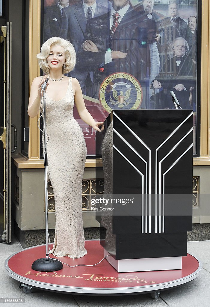A Marilyn Monroe wax figure is unveiled at Madame Tussauds on October 30, 2013 in Washington, DC.
