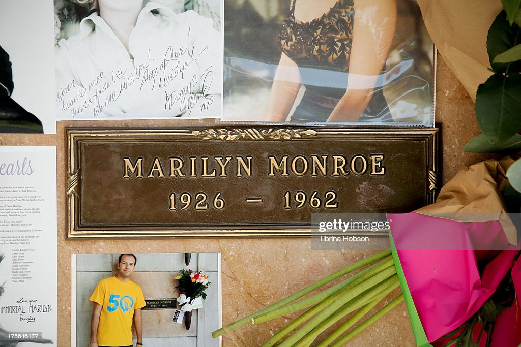 Marilyn Monroe's final resting place at the annual Marilyn Monroe Memorial Service at Pierce Brothers Westwood Village Memorial Park on August 5, 2013 in Westwood, California.
