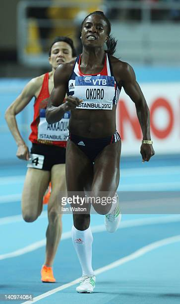 Marilyn Okoro of Great Britain competes in the Women's 800 Metres first round during day one of the 14th IAAF World Indoor Championships at the...
