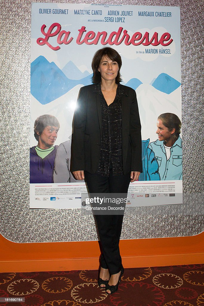 Marilyne Canto posing at 'La Tendresse' Premiere on September 23, 2013 in Paris, France.