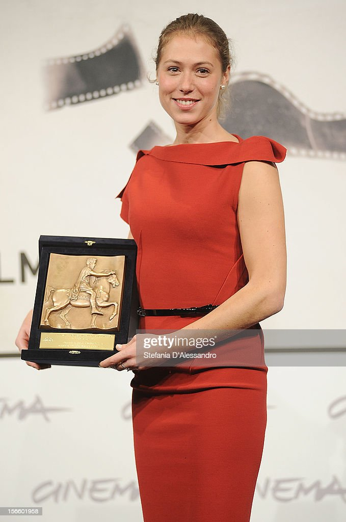Marilyne Fontaine attends Award Winners Photocall on November 17, 2012 in Rome, Italy.