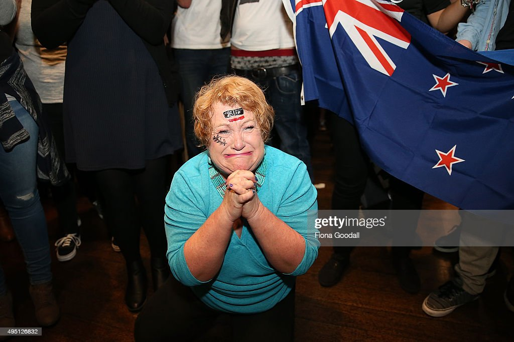 Fans In Auckland Watch Rugby World Cup Final | Getty Images