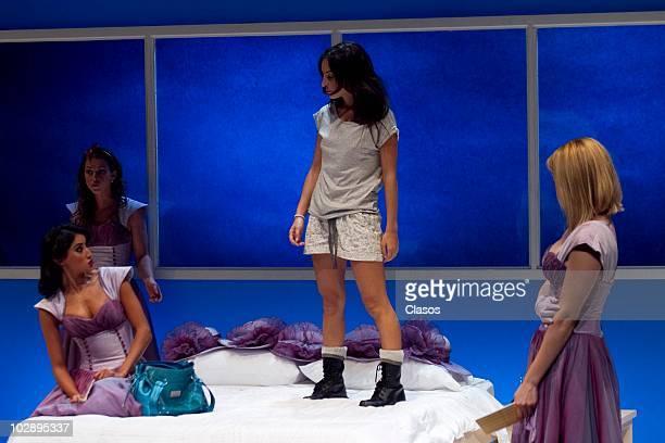 Marimar Vega Erika de la Rosa Griselda Contreras Paola Nunez and Cecilia Ponce in action during the Cinco Mujeres Usando el Mismo Vestido...