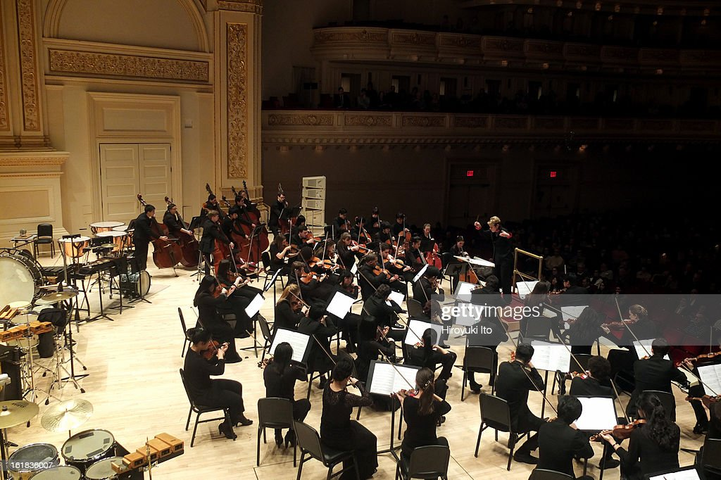 Marin Alsop leads the Juilliard Orchestra in John Corigliano's 75th birthday concert at Carnegie Hall on Saturday night, February 9, 2013.