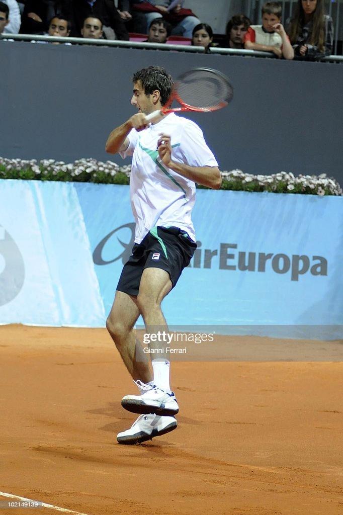 Marin Cilic, CRD, in 'Mutua Madrilena Madrid Open' of tennis, 8th May 2010, in 'La Caja Magica'. Madrid, Spain.