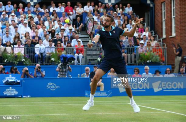 Marin Cilic CRO against Gilles Muller LUX during Men's Singles Semi Final match on the day six of the ATP Aegon Championships at the Queen's Club in...