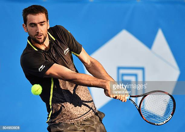 Marin Cilic of Croatia competes TEST IMAGE during the 2016 World Tennis Challenge match between Marin Cilic of Croatia and Fernando Verdasco of Spain...