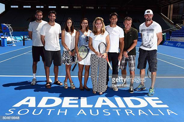 Marin Cilic of Croatia Mark Philippoussis of Australia Marion Bartoli of France Iva Majoli of Croatia Arantxa Sanchez Vicario of Spain Fernando...