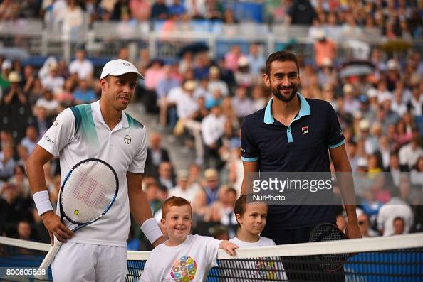 Muller v Cilic - Aegon Championships - Day Six : News Photo