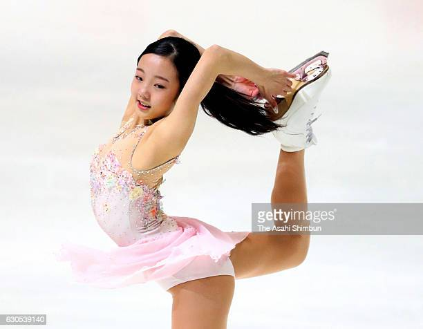 Marin Honda competes in the Ladies' Singles Short Program during day three of the 85th All Japan Figure Skating Championships at Towa Yakuhin RACTAB...
