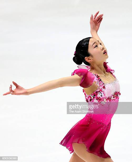 Marin Honda competes in the Women's Singles Free Skating during day four of the 85th All Japan Figure Skating Championships at Towa Yakuhin RACTAB...