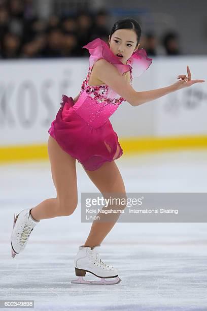 Marin Honda of Japan competes in the junior women's free program during the ISU Junior Grand Prix of Figure Skating Yokohama on September 11 2016 in...