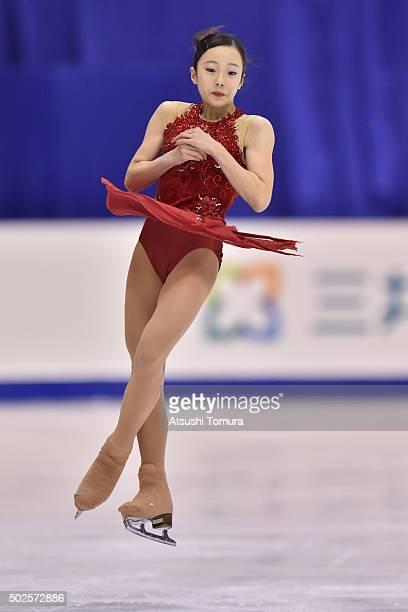 Marin Honda of Japan competes in the Ladies free skating during the day three of the 2015 Japan Figure Skating Championships at the Makomanai Ice...