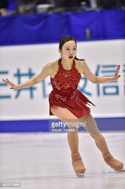 Marin Honda of Japan competes in the Ladies free skating during the day three of the 2015 Japan Figure Skating Championships at the Makomanai Ice...