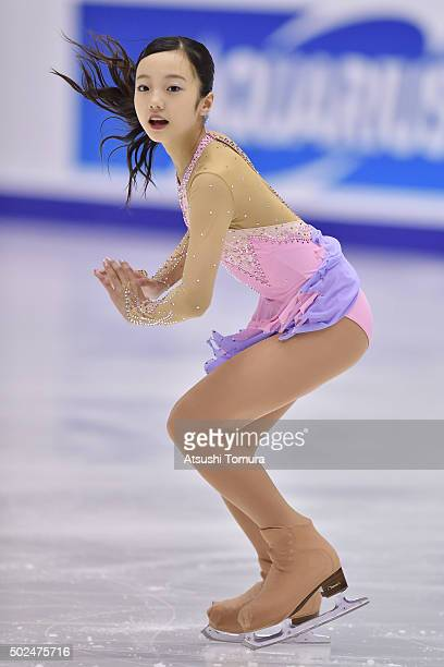 Marin Honda of Japan competes in the ladies short program during the day two of the 2015 Japan Figure Skating Championships at the Makomanai Ice...