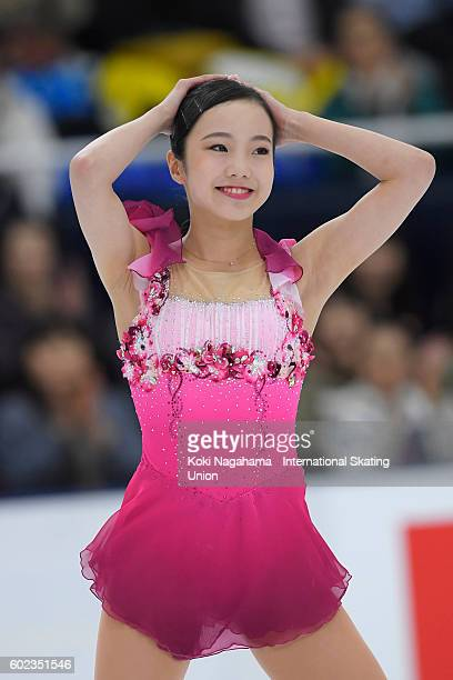 Marin Honda of Japan looks on after the junior women's free program during the ISU Junior Grand Prix of Figure Skating Yokohama on September 11 2016...