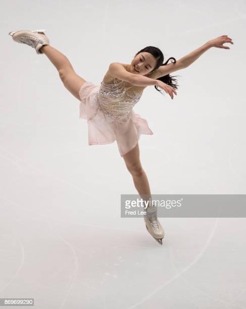 Marin Honda of Japan performs during the ISU Grand Prix of Figure Skating at on November 3 2017 in Beijing China